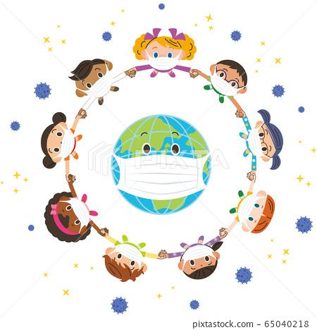 지구와 사람 바이러스가 감소 65040218