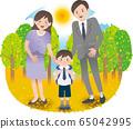 父母和孩子秋天 65042995