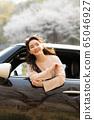 젊은여자 여행 봄 65046927
