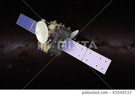 Interstellar probe in the Space, 3D rendering 65048533
