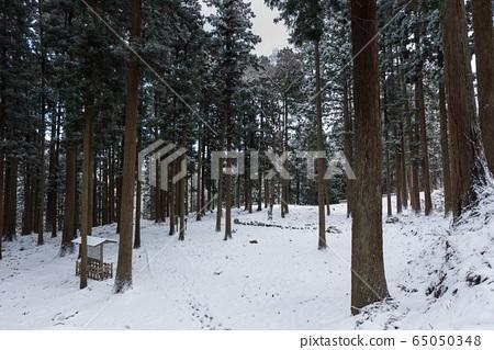 Nanao Castle in winter 65050348