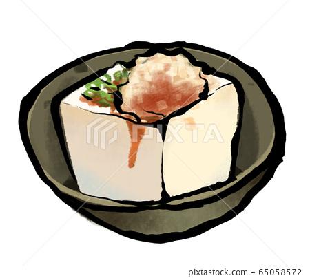 Brush illustration cold tofu 65058572