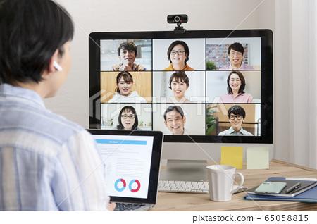 Online meeting Web conference Telework image 65058815