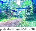 A landscape with torii 65059784