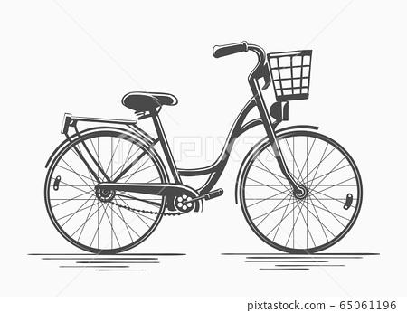 Bike with basket 65061196