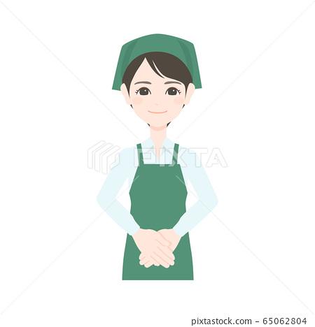 슈퍼 점원 여성 65062804