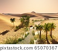 Beautiful natural background -African oasis 3d rendering 65070367