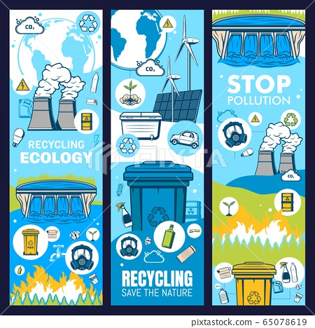 Environment and waste recycling, green ecology 65078619