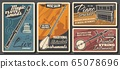 Music instruments, musical store retro posters 65078696