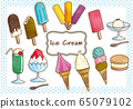 Various ice cream 65079102