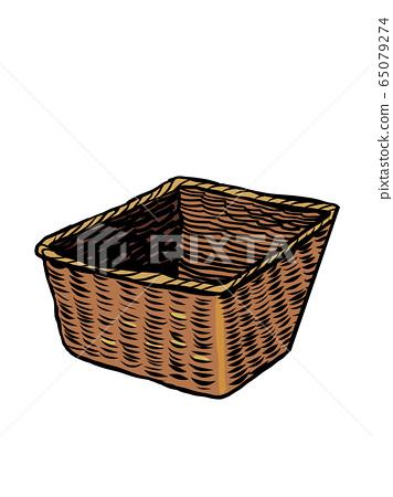 wicker basket. antique utensils 65079274