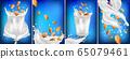Almond milk in a glass. 3D realistic nuts. Fresh milk splashes. Organic almond milk. Collection Milk label template. Vegetarian. Banner. Vector illustration 65079461