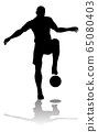 Soccer Football Player Silhouette 65080403