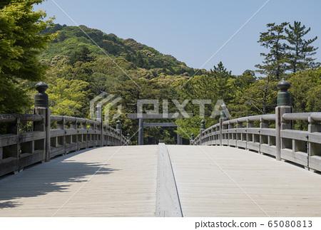 伊勢神宮大瀨參觀新雪和宇治橋奈菊入口 65080813