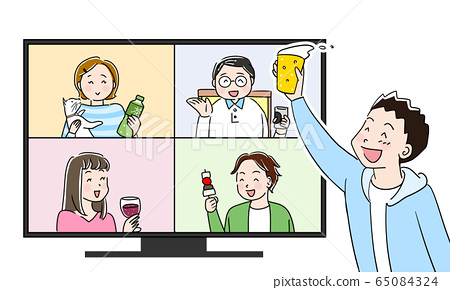 Online drinking party 65084324