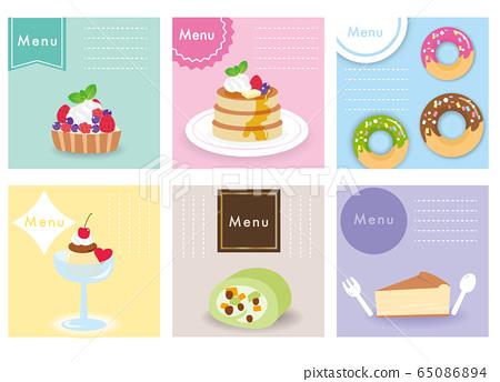 糖果安排烘焙食品設置菜單表 65086894