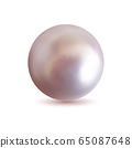 Isolated jewel ball. Realistic pearl 65087648
