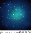 Night shining starry sky background. Vector 65089966