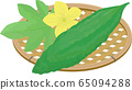 Bitter gourd flower leaf basket 65094288