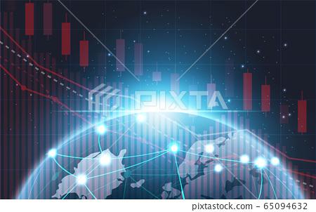 Stock market slump stock chart futuristic concept 65094632