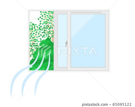 Illustration of opening windows for ventilation 65095122