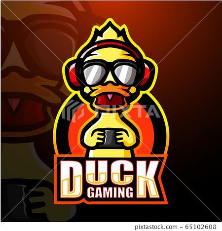 Duck gaming mascot esport logo design 65102608
