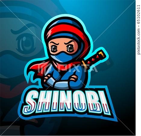 Shinobi mascot esport logo design 65102611