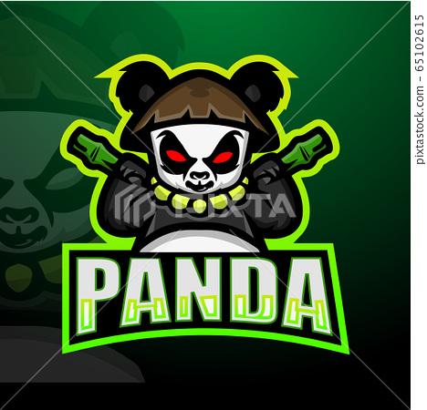 Panda mascot esport logo design 65102615