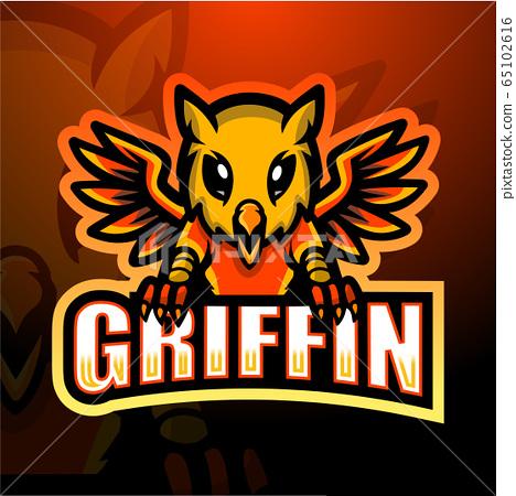 Griffin mascot esport logo design 65102616