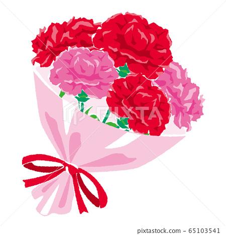 康乃馨花束的插圖 65103541