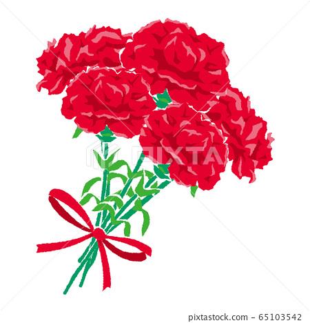 康乃馨花束的插圖 65103542
