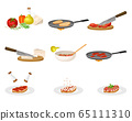 Bruschetta Preparation with Ingredients and Cooking Process Steps Vector Set 65111310