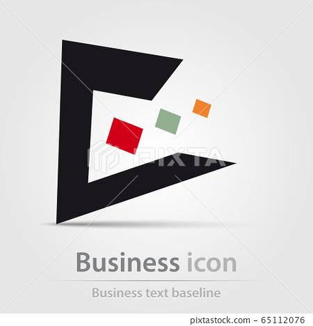 Originally created color business icon 65112076