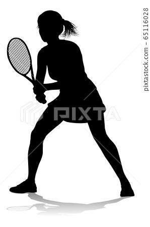 Tennis Silhouette Sport Player Woman 65116028