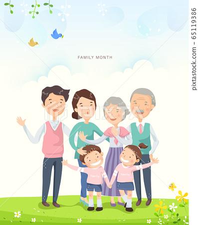 Family illustration 27 65119386