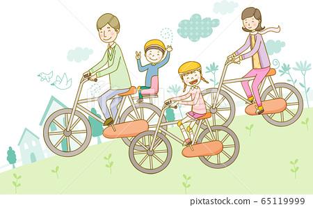 가족 행복 단짝 행복의 일러스트 소재 65119999