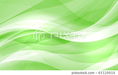 부드러운 곡선의 구성 (투명감이있는 녹색 배경) 65120018