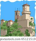 San Marino. Guaita Fortress Tower. 65121519