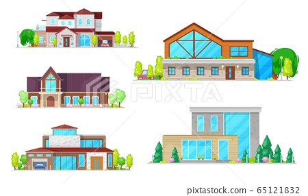 Residential houses, villas and mansion buildings 65121832