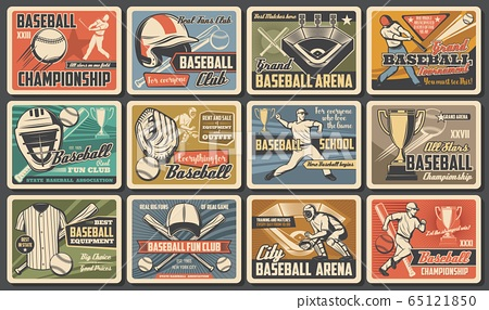 Baseball sport game players and items 65121850
