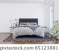 3d rendering of new contemporary bedroom interior 65123881
