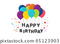 Happy Birthday poster for celebration  65123903