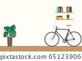 Design of modern home office workspace room 65123906