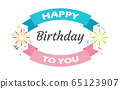 Happy Birthday poster for celebration  65123907