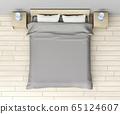 Modern bedroom interior 65124607