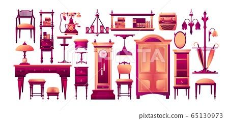 Set of furniture elements design 65130973
