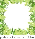 Trendy tropical leaves nature vector poster in a green light colors 65131164