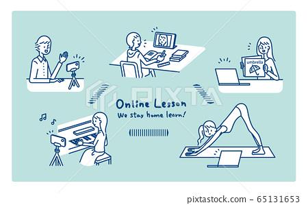 원격 집에서 온라인 수업이 가능한 학습 다양 65131653