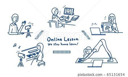 원격 집에서 온라인 수업이 가능한 학습 다양 65131654