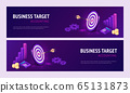 Business target accounting isometric landing page 65131873